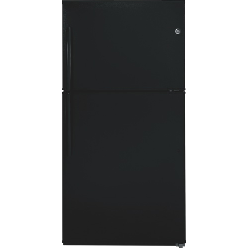 "GE 33"" 21.2 Cu. Ft. Top Mount Refrigerator (GTE21GTHBB) - Black"