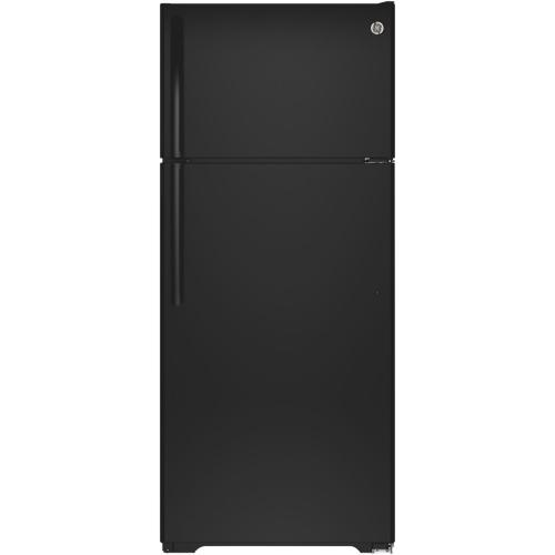 "GE 28"" 17.5 Cu. Ft. Top Mount Refrigerator (GTE18GTHBB) - Black"