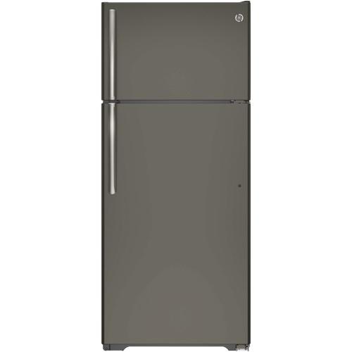 Réfrigérateur de 28 po/17,5 pi3 avec congélateur en haut de GE (GTE18GMHES) - Ardoise
