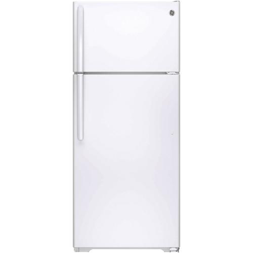 "GE 28"" 17.5 Cu. Ft. Top Mount Refrigerator (GTE18CTHWW) - White"