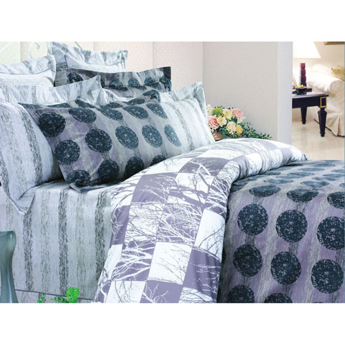The St. Pierre Home Prelude 210 Thread Count Cotton Duvet Cover Set - Queen - Multi-colour