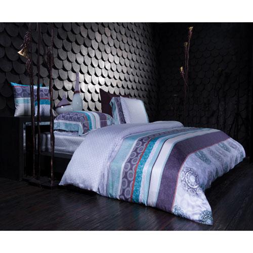 The St. Pierre Home Sofia 300 Thread Count Cotton Duvet Cover Set - Queen - Lavender