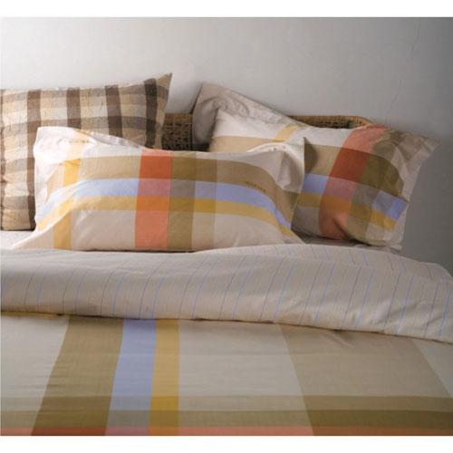 The St. Pierre Home Avignon 300 Thread Count Cotton Twill Duvet Cover Set - Queen - Brown/Cream/Blue