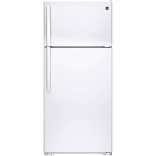 Réfrigérateur 28 po à congélateur supérieur de 15,5 pi3 de GE (GTE16DTHWW) - Blanc