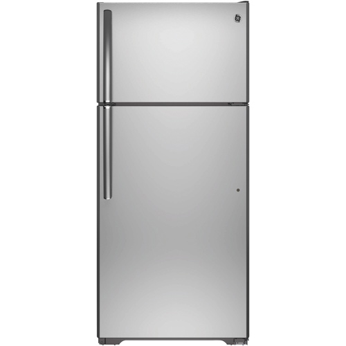 "GE 28"" 15.5 Cu. Ft. Top Mount Refrigerator (GTE16GSHSS) - Stainless"