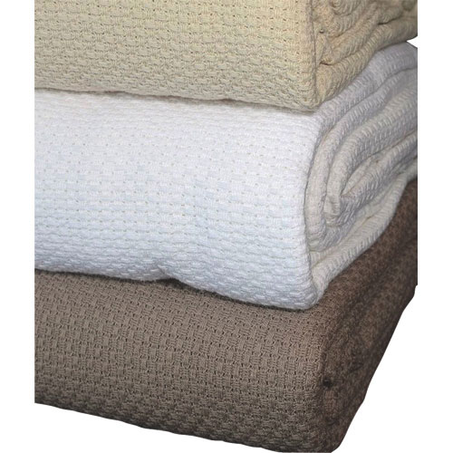 The St. Pierre Home Makenzie Cotton Blanket - Queen - Taupe