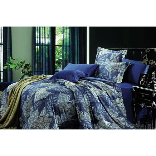 The St. Pierre Home Provence 3-Piece Pima Cotton Duvet Cover Set - Queen - Blue