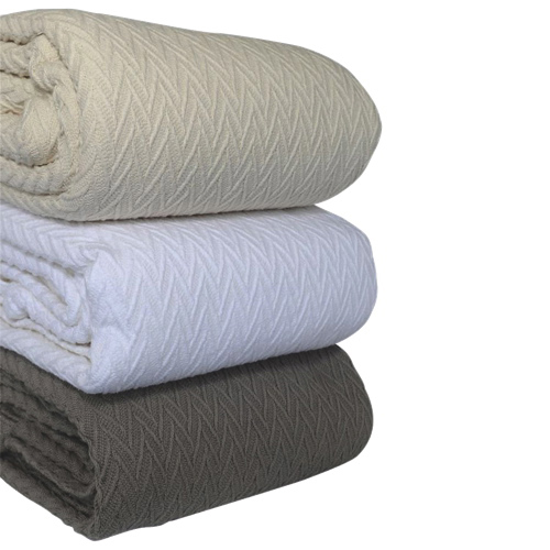 The St. Pierre Home Charisma Cotton Blanket - Queen - Taupe