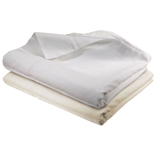 The St. Pierre Home Collection 400 Thread Count Egyptian Cotton Sheet Set - Queen - White (400DH-TC-Q-W)