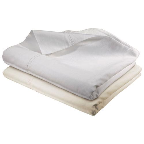 Ensemble de draps en coton égyptien de contexture 400 de St. Pierre Home - Très grand lit - Blanc