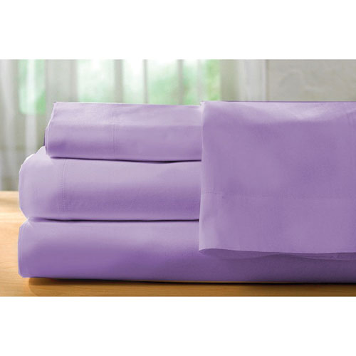 The St. Pierre Home Collection 400 Thread Count Egyptian Cotton Sheet Set - Double/Full - Purple