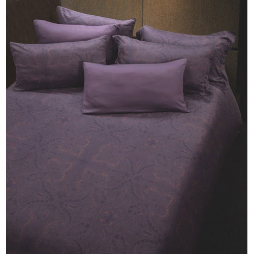 The St. Pierre Home Lilas 300 Thread Count MicroModal Duvet Cover Set - King - Lilac Print
