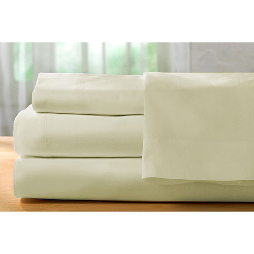 The St. Pierre Home Collection 400 Thread Count Egyptian Cotton Sheet Set - King - Cream (400TC-K-I)