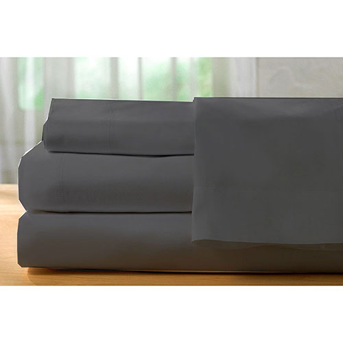 The St. Pierre Home Collection 400 Thread Count Egyptian Cotton Sheet Set - King - SilverGrey