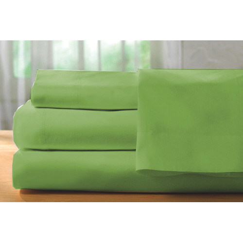 The St. Pierre Home Collection 400 Thread Count Egyptian Cotton Sheet Set - Double/Full -Apple Green