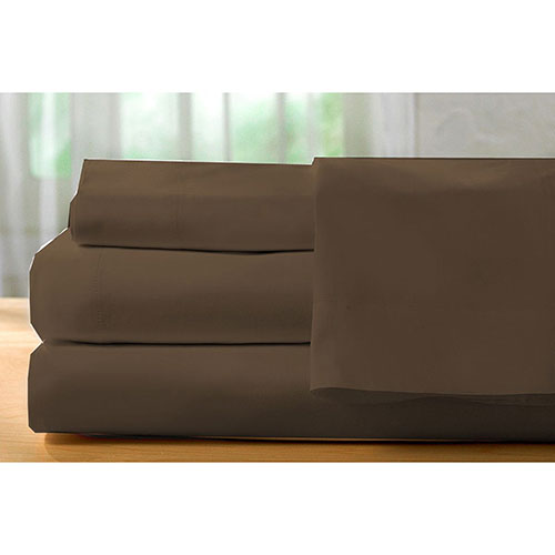 The St. Pierre Home Collection 400 Thread Count Egyptian Cotton Sheet Set - Double/Full - Chocolate