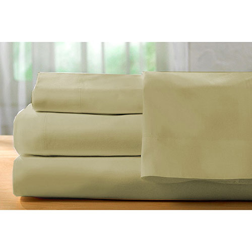 The St. Pierre Home Collection 400 Thread Count Egyptian Cotton Sheet Set - Queen - Taupe