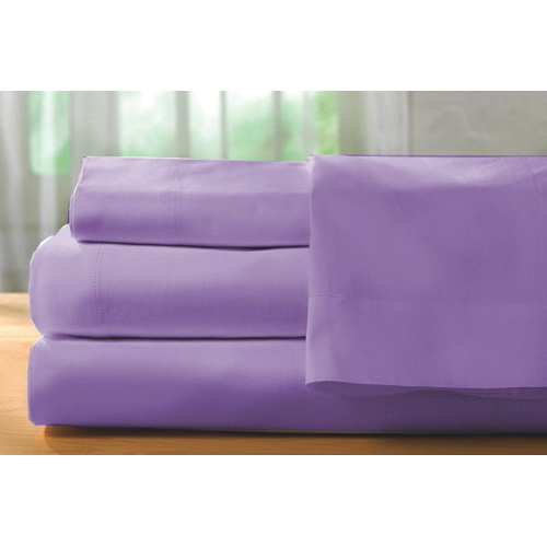 The St. Pierre Home Collection 400 Thread Count Egyptian Cotton Sheet Set - Queen - Purple