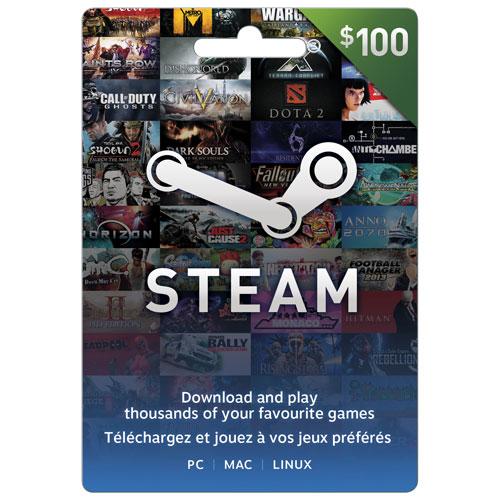 Carte Steam de 100 $ - En magasin seulement