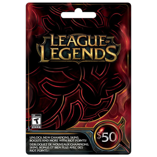 Carte League of Legends de 50 $ - En magasin seulement