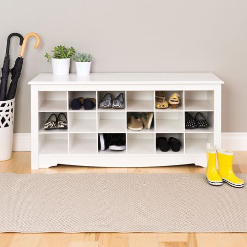 Peachy Shoe Cubbie Storage Bench White Evergreenethics Interior Chair Design Evergreenethicsorg