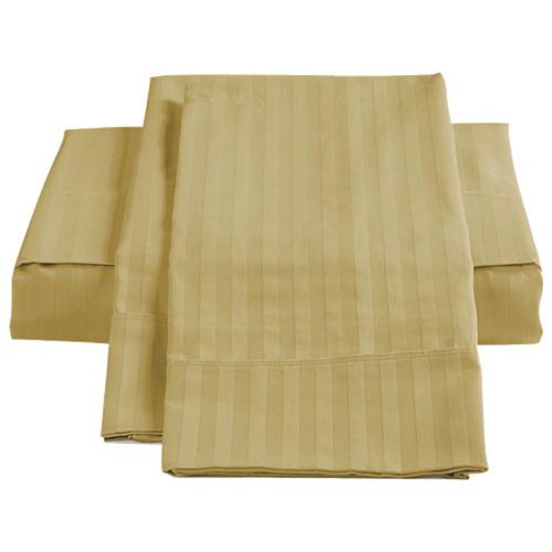 Ensemble de draps en coton égyptien de contexture 450 de St. Pierre Home - Lit simple - Paille