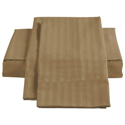 The St. Pierre Home Collection 450 Thread Count Egyptian Cotton Sheet Set - Single/Twin - Taupe