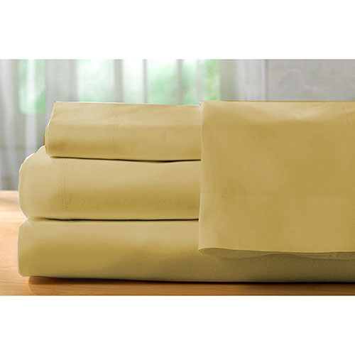 The St. Pierre Home Collection 400 Thread Count Egyptian Cotton Sheet Set - Single/Twin - Gold