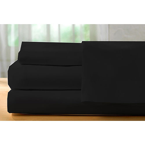 The St. Pierre Home Collection 400 Thread Count Egyptian Cotton Sheet Set - Single/Twin - Black