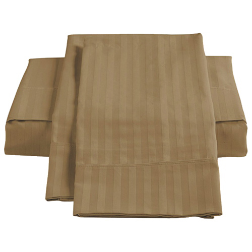 The St. Pierre Home Collection 450 Thread Count Egyptian Cotton Sheet Set - Double/Full - Taupe