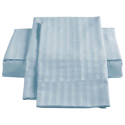 Ensemble de draps en coton égyptien de contexture 450 de St. Pierre Home - Lit double - Bleu glace