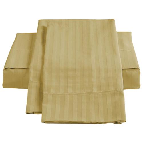 Ensemble de draps en coton égyptien de contexture 450 de St. Pierre Home - Grand lit - Paille