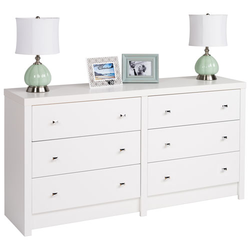 calla modern 6 drawer dresser white dressers chests best buy canada. Black Bedroom Furniture Sets. Home Design Ideas