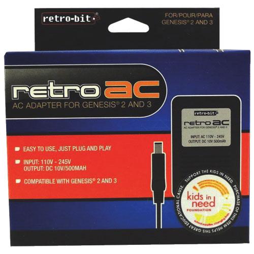 Retro-Bit Retro AC Adapter for Genesis 2/3