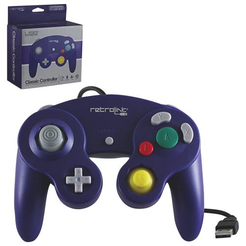 Manette classique GameCube de Retro-Bit - Noir