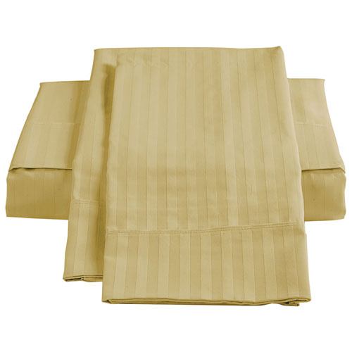 The St. Pierre Home 450 Thread Count Egyptian Cotton Sheet Set - Double/Full - Straw
