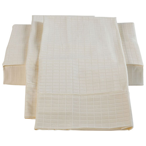 The St. Pierre Home Bamboo/Cotton Duvet Cover Set - Queen - Ivory