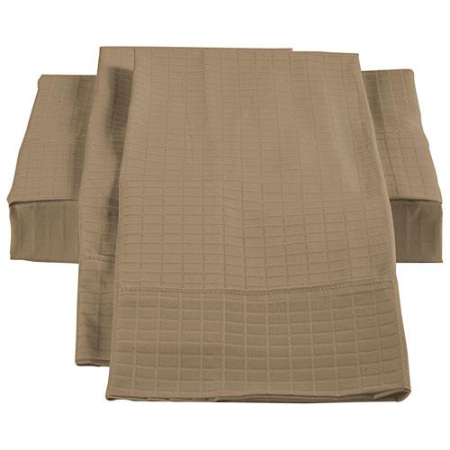 Ensemble housse de douillette en bambou/coton de The St. Pierre - Très grand lit - Taupe