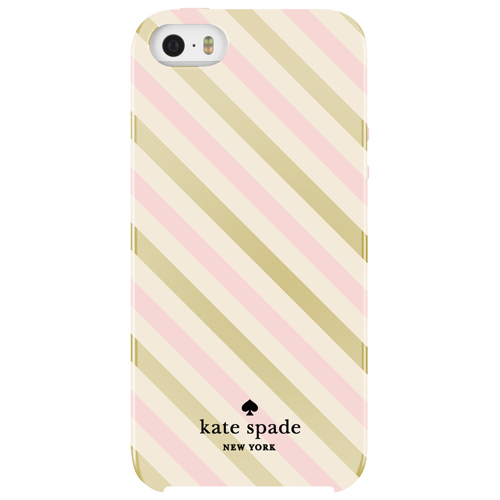 kate spade new york Diagonal Stripe iPhone 5/5s/SE Fitted Hard Shell Case - Gold/Cream/Blush