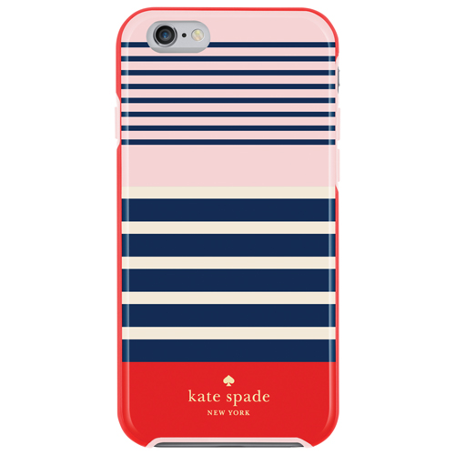 kate spade new york Laventura iPhone 6/6s Fitted Hard Shell Case - Red/Navy/Blush - Exclusive Pattern