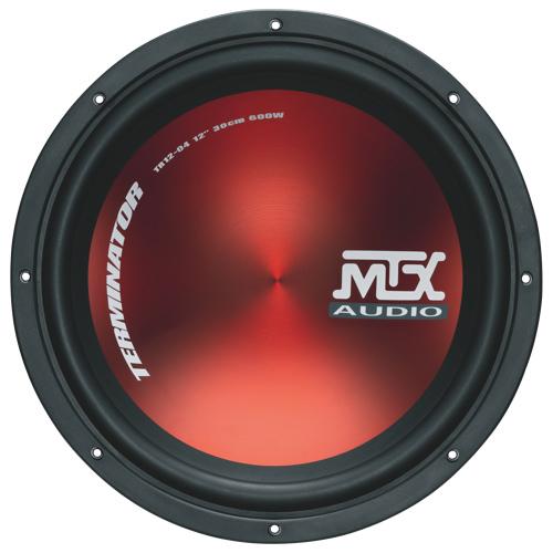 Haut-parleur d'extrêmes-graves d'auto de 600 W 12 po Terminator de MTX (TR12-04)