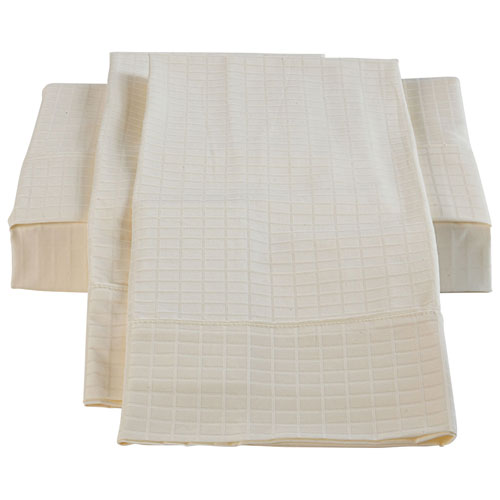 The St. Pierre Home Collection Bamboo/Cotton Sheet Set - Double/Full - Ivory