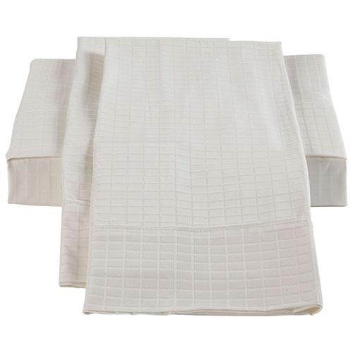 Ensemble de draps en bambou/coton de St. Pierre Home - Grand lit - Blanc