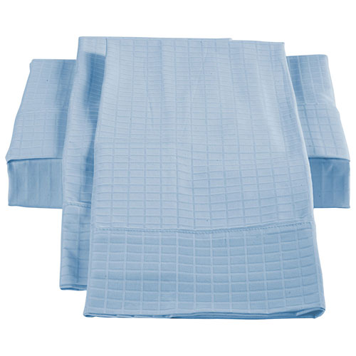 Ensemble de draps en bambou/coton de St. Pierre Home - Grand lit - Bleu