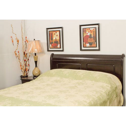 The St. Pierre Home Cotton Coverlet - King - Ecru/Green