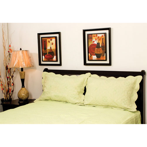 The St. Pierre Home Cotton Coverlet - King - Green