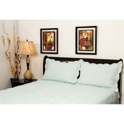Couvre-lit en coton de St. Pierre Home - Grand lit - Bleu de mer
