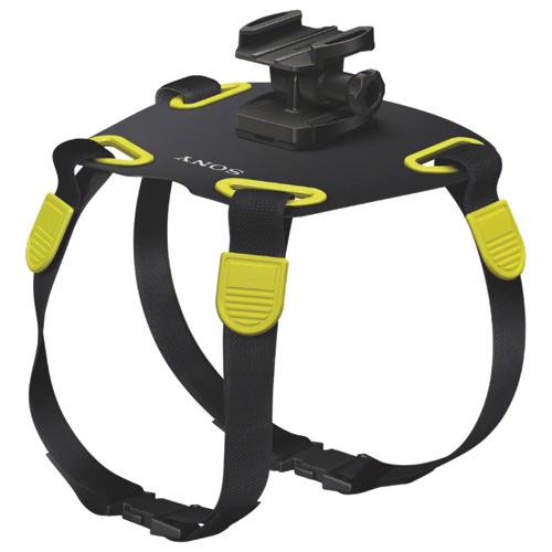 Harnais pour chien pour ActionCam de Sony (AKADM1) - Noir-jaune
