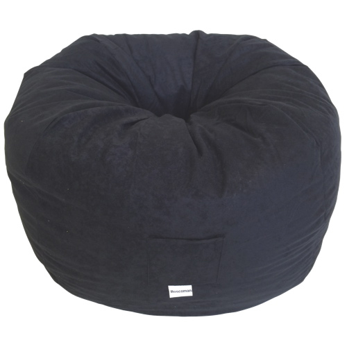 Contemporary Faux Suede Bean Bag Chair - Black