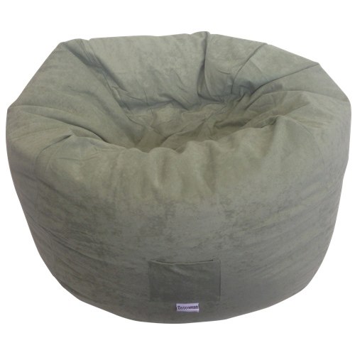 Contemporary Faux Suede Bean Bag Chair - Olive
